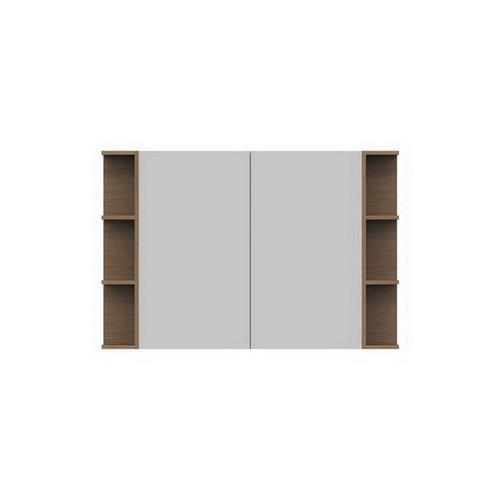 Glacier Mirrored Cabinet 1200mm 2 Door Double Shelf [165107]