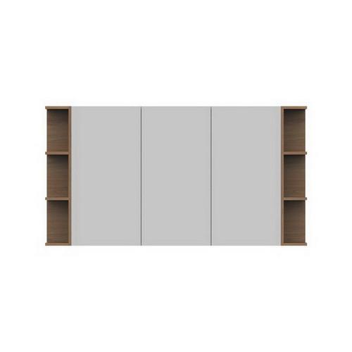 Glacier Mirrored Cabinet 1500mm 3 Door Double Shelf [165108]
