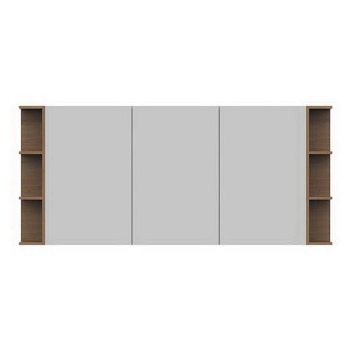 Glacier Mirrored Cabinet 1800mm 3 Door Double Shelf [165109]