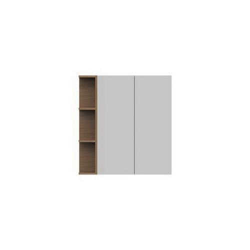 Glacier Mirrored Cabinet 750mm 2 Door Left Hand Shelf [165113]