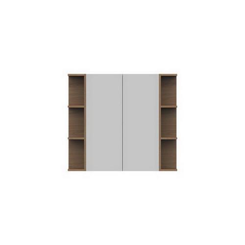 Glacier Mirrored Cabinet 900mm 2 Door Double Shelf [165115]