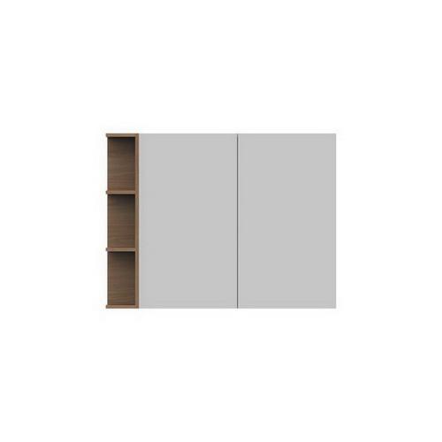 Glacier Mirrored Cabinet 1050mm 2 Door Left Hand Shelf [165105]