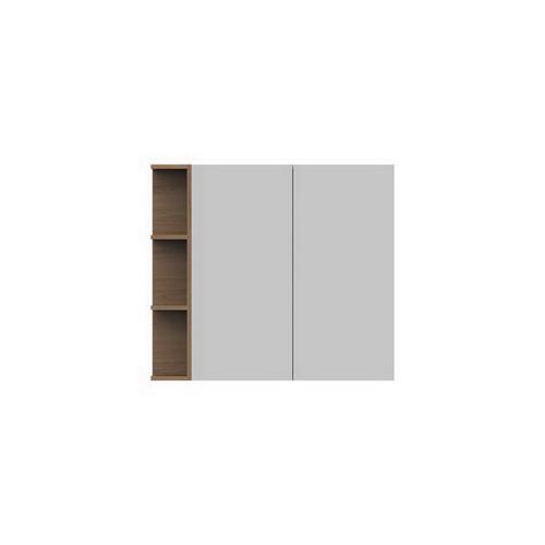Glacier Mirrored Cabinet 900mm 2 Door Left Hand Shelf [165116]