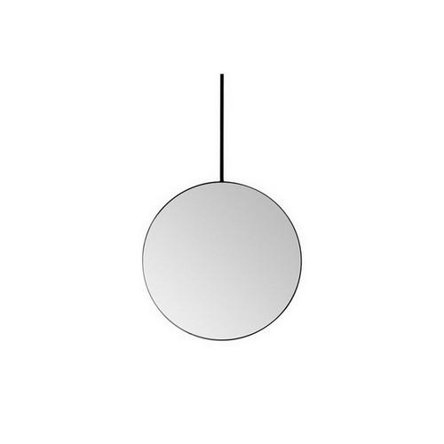 Stella Round Mirror 700 x 700mm Matte Black with Adjustable Rail [166307]