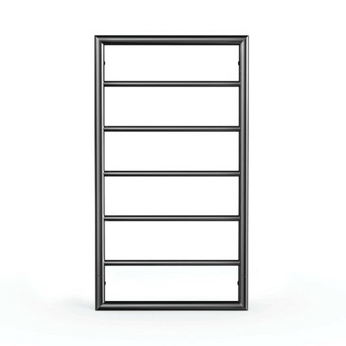 Jeeves Spartan Box Heated Towel Ladder 90W 5 Bar 520 x 930mm Powder Coated Satin Black [167872]