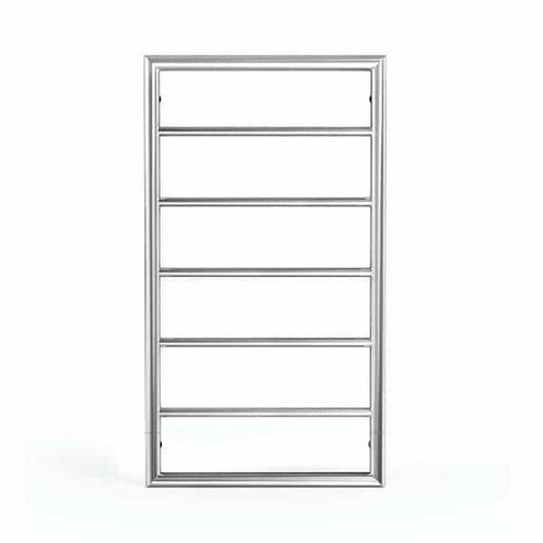 Jeeves Spartan Box Heated Towel Ladder 90W 5 Bar 520 x 930mm Polished Stainless Steel [167873]