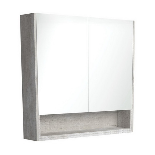 Mirrored Cabinet with Display Shelf 900mm Industrial [169165]