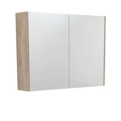 Mirrored Cabinet with Side Panels 900mm Scandi Oak [169166]