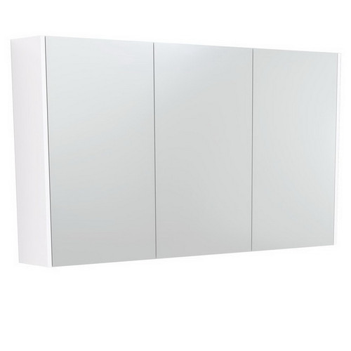 Mirrored Cabinet with Side Panels 1200mm Gloss White [169167]