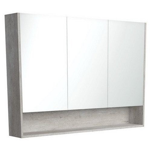 Mirrored Cabinet with Display Shelf 1200mm Industrial [169170]