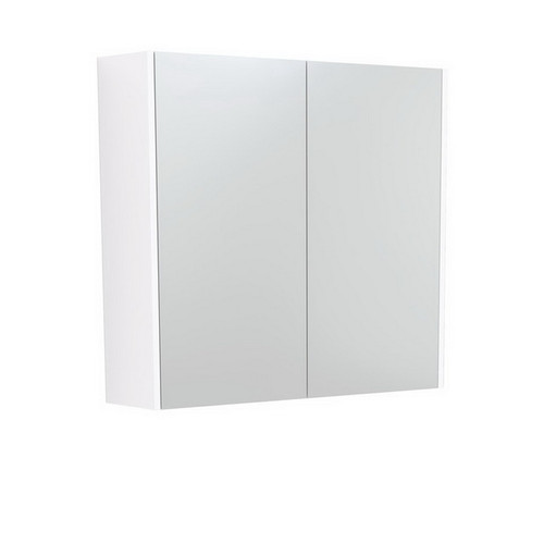 Mirrored Cabinet with Side Panels 750mm Gloss White [169156]
