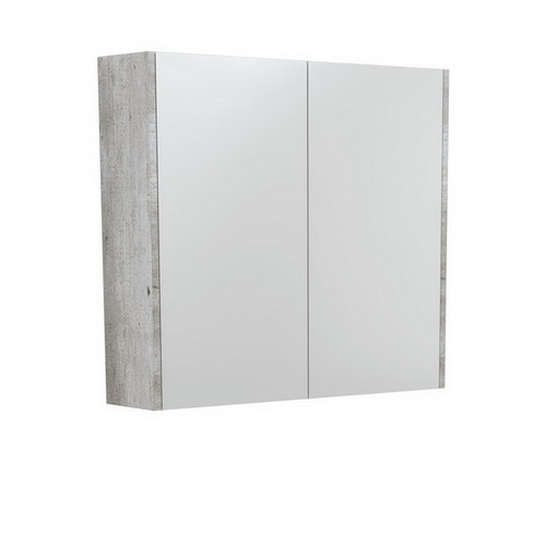 Mirrored Cabinet with Side Panels 750mm Industrial [169158]