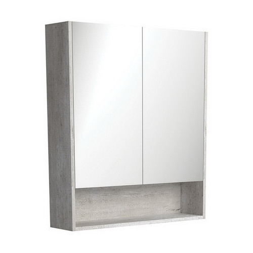Mirrored Cabinet with Display Shelf 750mm Industrial [169159]
