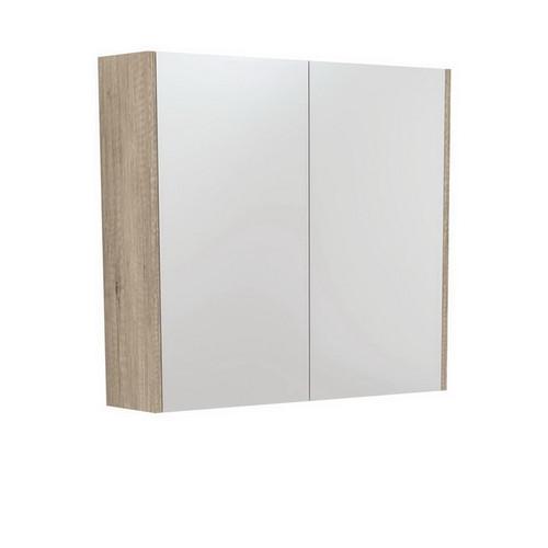 Mirrored Cabinet with Side Panels 750mm Scandi Oak [169160]