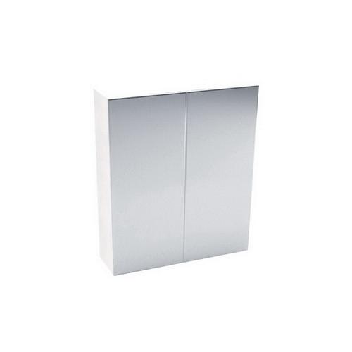 Pencil Edge Mirrored Cabinet 600mm Gloss White [169153]