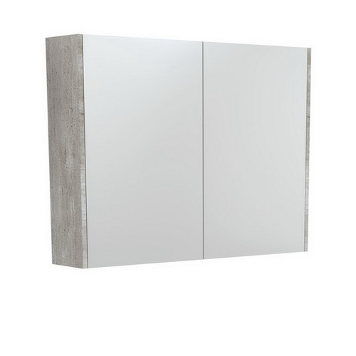 Mirrored Cabinet with Side Panels 900mm Industrial [169164]