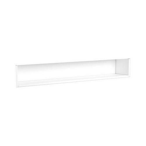 Mirrored Cabinet Display Shelf Insert 1200mm Satin White [191568]