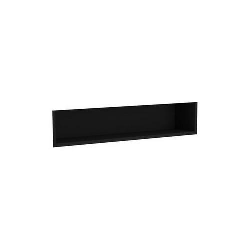 Mirrored Cabinet Display Shelf Insert 900mm Satin Black [191551]