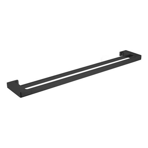 Pearl Double Towel Rail 800mm Matte Black [181320]
