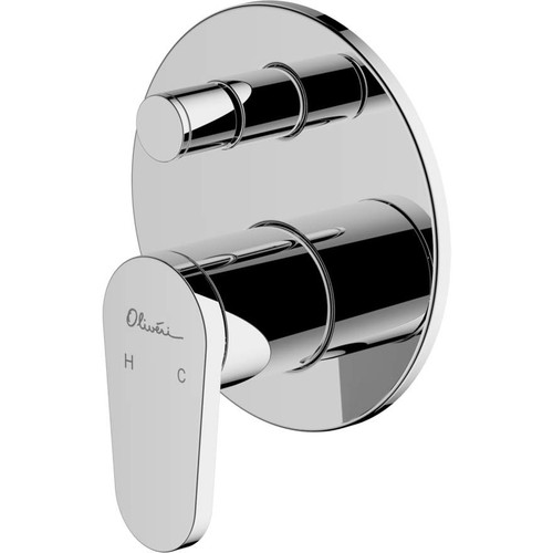 London Chrome Wall Mixer With Diverter [159657]