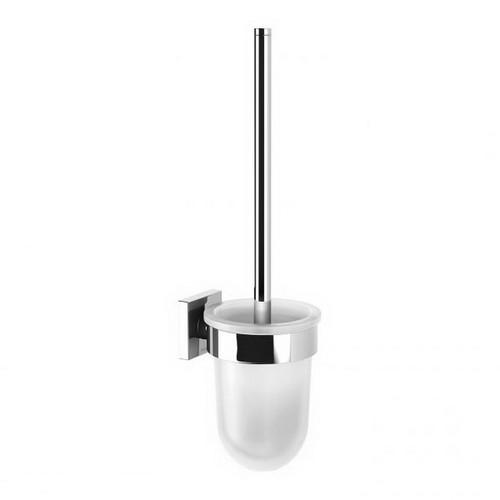 Radii Square Toilet Brush & Holder Chrome [199310]