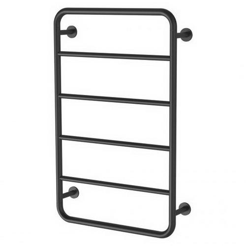 Vivid Slimline Towel Ladder 4 Bar 800 x 500mm Matte Black [199327]