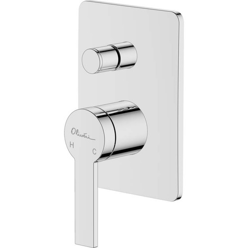 Barcelona Chrome Wall Mixer With Diverter [159627]