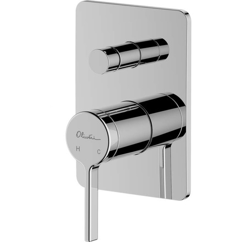 Stockholm Chrome Wall Mixer With Diverter [159671]