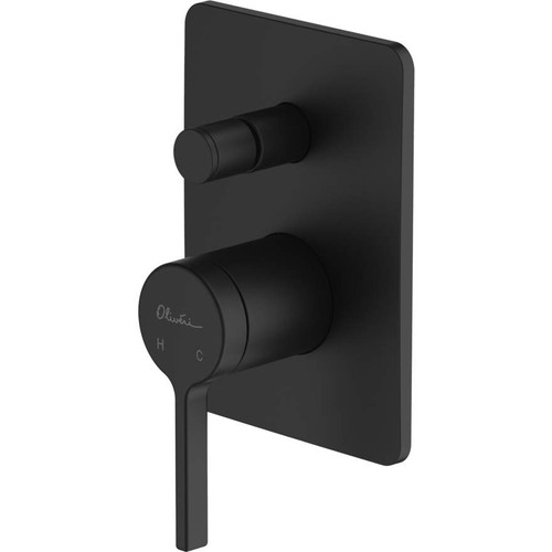 Stockholm Matte Black Wall Mixer With Diverter [159677]