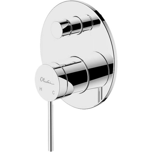 Venice Chrome Wall Mixer With Diverter [159683]