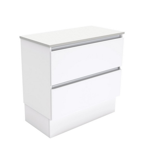 Quest 900 Gloss White Cabinet on Kick Board 2 Drawer [180681]