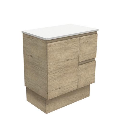 Edge 750 Scandi Oak Cabinet on Kick Board 1 Door 2 Left Drawer [180685]
