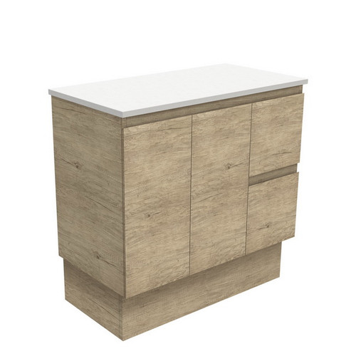 Edge 900 Scandi Oak Cabinet on Kick Board 2 Door 2 Left Drawer [180689]