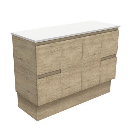 Edge 1200 Scandi Oak Cabinet on Kick Board 2 Door 4 Drawer [180693]