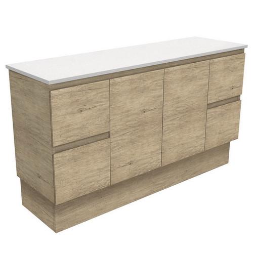 Edge 1500 Scandi Oak Cabinet on Kick Board 2 Door 4 Drawer [180695]