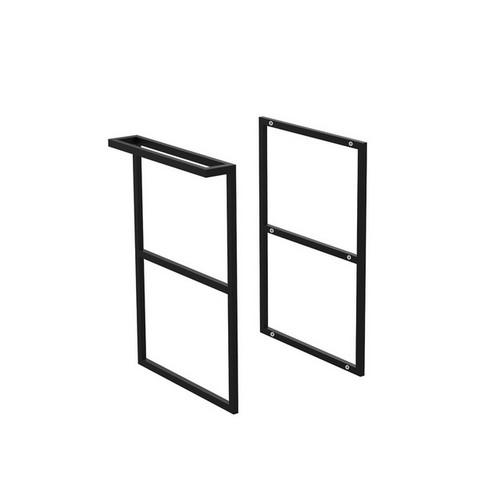 Amato Matte Black Single Towel Rail Frame Side Panel Kit [191654]