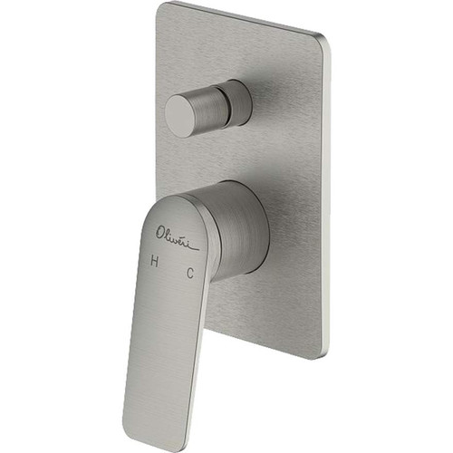 Paris Brushed Nickel Wall Mixer With Diverter [159651]