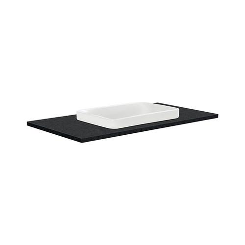 Sarah Black Sparkle 900 Semi-inset Basin-Top + Edge Industrial Cabinet on Kick Board 2 Door 2 Left Drawer 1 Tap Hole [197190]