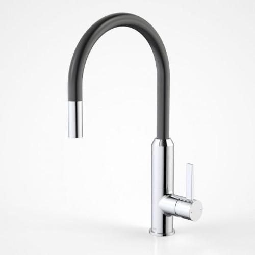 Vixen Retractable Sink Mixer Black/Chrome [134649]