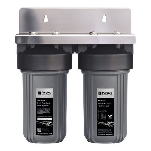 """High Flow Whole House Dual Water Filter System, 10"""", 30 Lpm [139380]"""