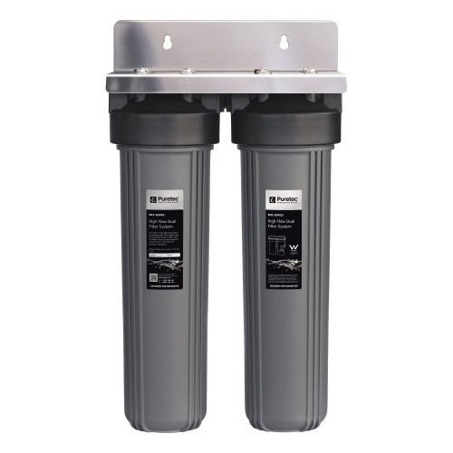 """High Flow Whole House Dual Water Filter System, 20"""", 1 Micron, Rainwater [251327]"""