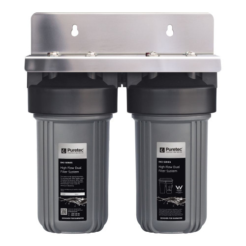 """High Flow Whole House Dual Water Filter System, 10"""", 1 Micron, Rainwater [251329]"""