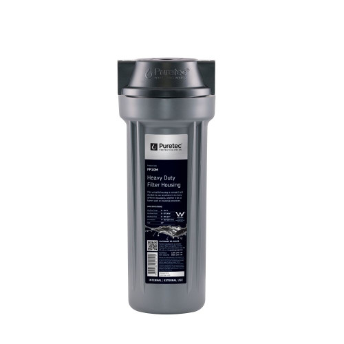 """Heavy Duty Water Filter Housing, 10"""" x 2.5"""" (Cartridges Not Included), 1/2"""" Conn [251333]"""