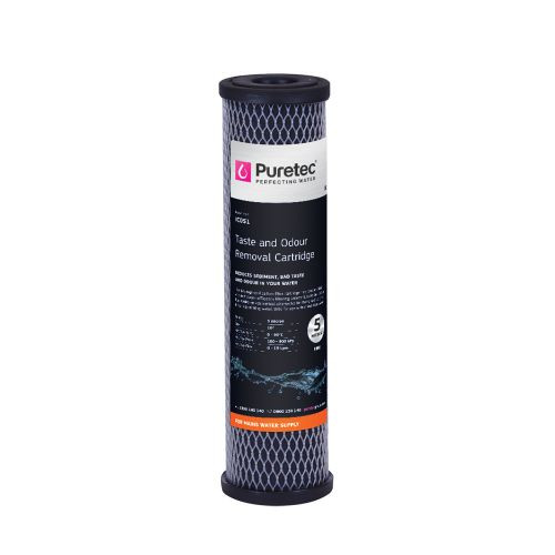 "Impregnated Carbon Water Filter Cartridge, 10"", 5 Micron [251397]"