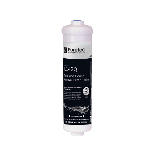 """Inline Carbon Water Filter Cartridge, Includes 1/4"""" Quick Connect Fittings [251403]"""