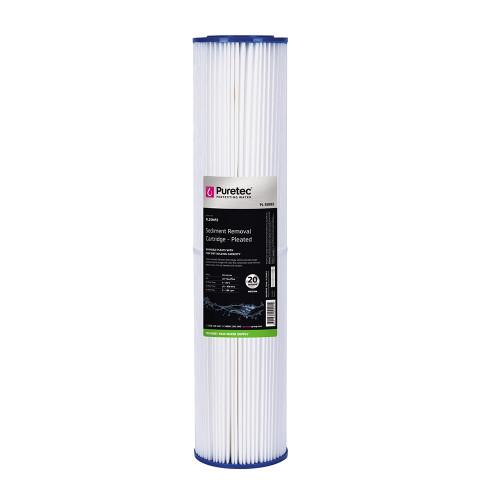 "Pleated Sediment Water Filter Cartridge, 20"", MaxiPlus, 20 Micron [251861]"
