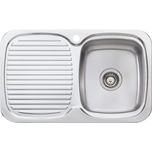 Lakeland Single Bowl Sink With Drainer-1TH [067034]