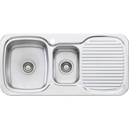 Lakeland 1 & 1/2 Bowl Sink With Drainer-1TH [067036]