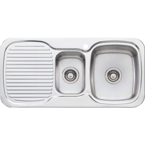 Lakeland 1 & 1/2 Bowl Sink With Drainer-1TH [067038]