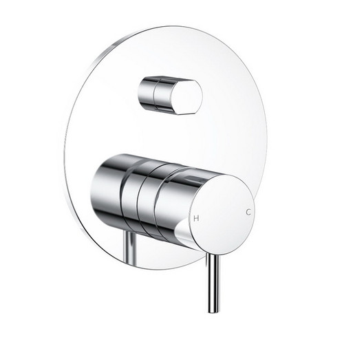 Round Pin Wall Bath / Shower Mixer with Diverter Chrome [156370]